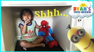 Hide N Seek Family Fun around the house with Ryan