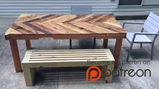 How To Build A Modern Outdoor Bench | Crafted Workshop