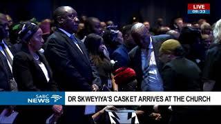 Funeral service for Zola Skweyiya starts