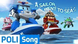 ♫ A sailor went to sea | Kids Songs | Robocar POLI