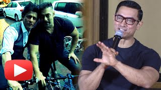 Aamir Khan REACTS on Shahrukh Khan and Salman Khan Cycling