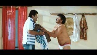Kuri Prathap  caught by Jaggesh | Best  Comedy Scenes | Cool Ganesha Latest Kannada Movie