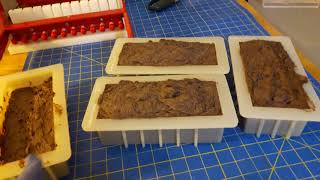 Cutting soap and chit chat - Batches 354 & 344; sandalwood vanilla and milk chocolate almond