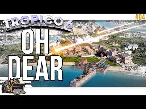 Oh sure. It's all on fire | Tropico 6 beta gameplay #4