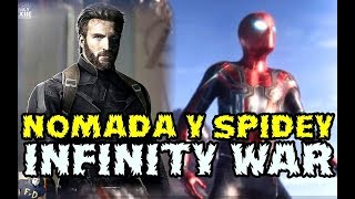 AVENGERS INFINITY WAR CHRIS EVANS ES NOMAD Y TOM HOLLAND NO SABIA QUE ESTABA CON THANOS