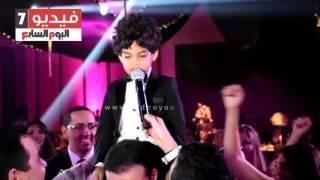 """بالفيديو والصور.. إبن هيثم شاكر يغنى فى حب الأهلى """" جمهوره ده حماه"""""""