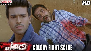 Yevadu Movie    Colony Fight Scene    Ram Charan, Shruthi Hasan