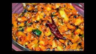 Raw Cut Mango Chutney -Maamidikaaya Mukkala Pacchadi w/Engish Subtitles