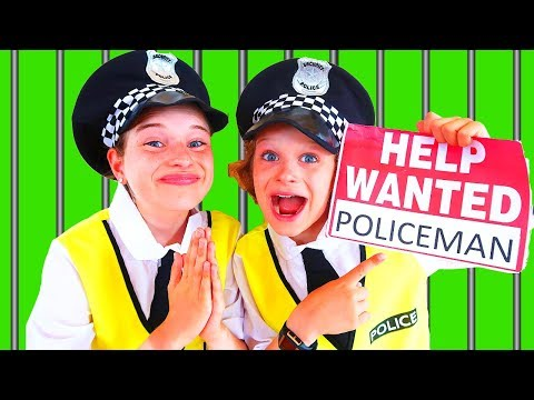 NEW POLICEMAN WANTED Kids try out to be a policeman Pretend Play with The Norris Nuts