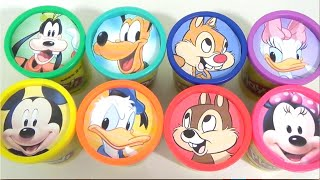 MICKEY MOUSE CLUBHOUSE & Friends Play-Doh Lids with Mickey, Minnie & Pluto