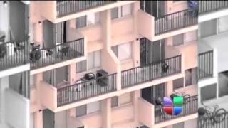 Niño cae de un quinto piso, madre lo sigue detrás
