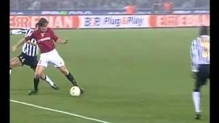 Roma Juventus 4-0 commento Caressa - Totti indica 4