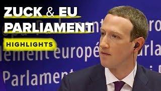 Zuckerberg EU Parliament highlights