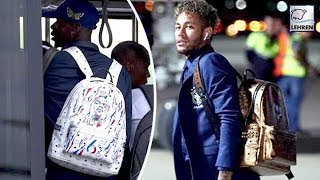 Neymar Rocks £700 Gold Bag While Pogba Flaunts Bag With Own Face