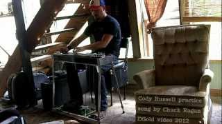 Cody Russell pedal steel practice on Chuck Ragan