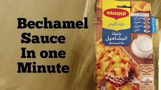 Bechamel Sauce in One Minute or white Sauce