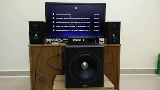 Gene Edifier S350DB 2.1 Speaker Sound Test (Instrumental, Techno, Bass)