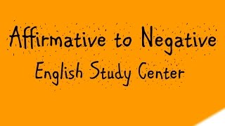 Affirmative to Negative sentence in bangla