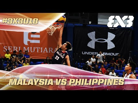 Malaysia upset the Philippines in a hard fought game! - Full Game - Asia Cup U18 - FIBA 3x3