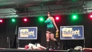 The Geek Heroine Combat - tribal geek cosplay dance by Deviant Sisters at Geekopolis