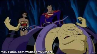 Wonder Woman fights Mongul! (Beauty vs. Ugly!)