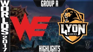 Team WE vs Lyon Gaming Highlights S7 Worlds 2017 Play in Group A - LoL World Championship WE vs LYN