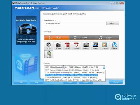 Download Working with MediaProSoft Free HD Video Converter HD Mp4 3GP Video and MP3