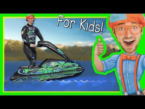 Xxx Mp4 Boats For Kids With Blippi Explore A Jet Ski 3gp Sex