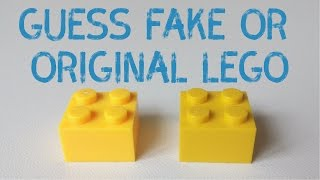 GUESS FAKE OR ORIGINAL LEGO BRICK 🙂 NEW LEGO GAME