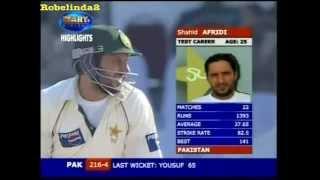 Shahid Afridi RAPES INDIA- PAKISTAN ZINDABAD! INDIA- JUST BAD! 156 vs India 2nd test 2005/06