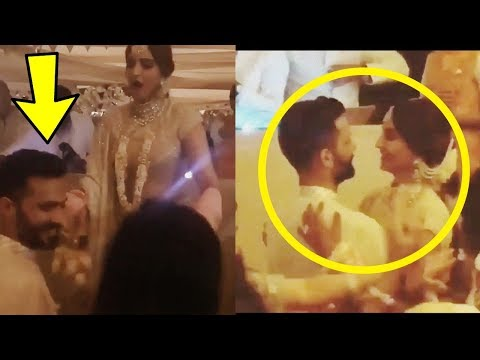 Oops Drunk Sonam Kapoor forcing beau Anand Ahuja to dance with her in Sangeet Function