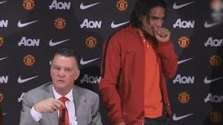 Van Gaal Funny Moment ● Asking About Falcao's English To The Journalists ● MU Press Conference