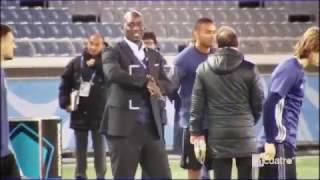La broma de Cristiano Ronaldo al agente de seguridad en el entrenamiento en Japón