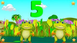 Five Little Speckled Frogs | Kids Nursery Rhymes Song | 3D Kindergarten Songs by Little Treehouse