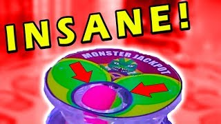 MAJOR Jackpot Win on Monster Drop Arcade Game! EXTREME WIN!