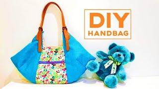HANDBAG Tutorial with two zipper | Shopping bag DIY | FREE TEMPLATE DOWNLOAD ~Sewing Art#HandyMum❤❤