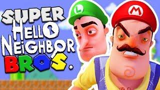 SUPER HELLO NEIGHBOR BROS! (Super Mario + Hello Neighbor mod)   Hello Neighbor Beta 3 Mods Gameplay