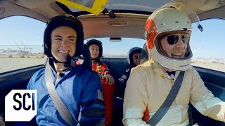 Driving With Four Duct Tape Tires  | MythBusters Jr.