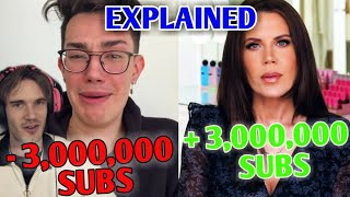 James Charles Loses 3 Million SUBS!- Explained  James Charles Vs Tati Drama, PewDiePie  CarryMinati
