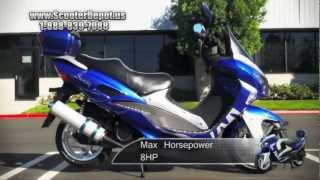 MC_D150P,Sunny 150cc Sportbike-Inspired Styling Moped Scooters at ScooterDepot.us for $999