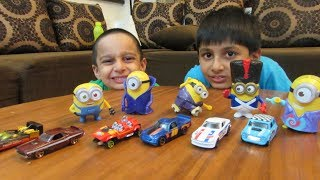 Unboxing Toys with Kids, Children Playing with Street Vehicles, Trucks, Hotwheels Cars, Playtime