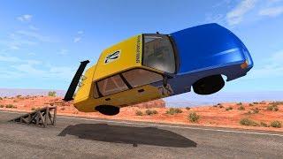 Car Flips & Cliff Falls #2 - BeamNG Drive
