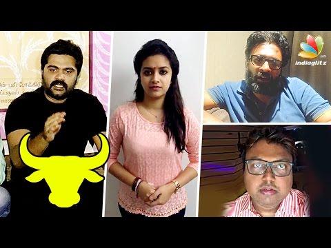 Keerthi Suresh and Simbu speech on Jallikattu Protest | D Imman, Director Ram