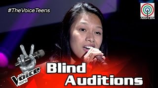 The Voice Teens Philippines Blind Audition: Erika Tenorio - I Don't Wanna Talk About It