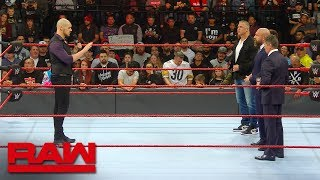 Baron Corbin explains his methodology to the McMahon family: Raw Exclusive, Dec. 17, 2018