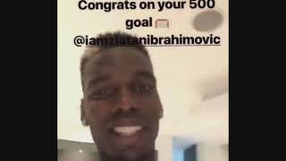 How footballers React to Zlatan 500th Goal