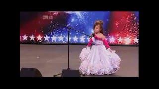 اجمل طفلة  جزائرية تقلد شاكيرا في برنامح المواهب البريطاني