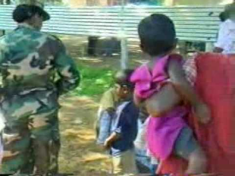 SriLankan ARMY Helped Tamil refugees