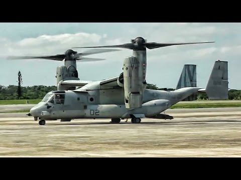 Tiltrotor Takeoff • Marines Aid Nepal Earthquake Victims