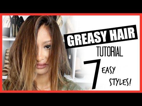 7 Greasy OILY Hair Tutorial! Easy & Cute!